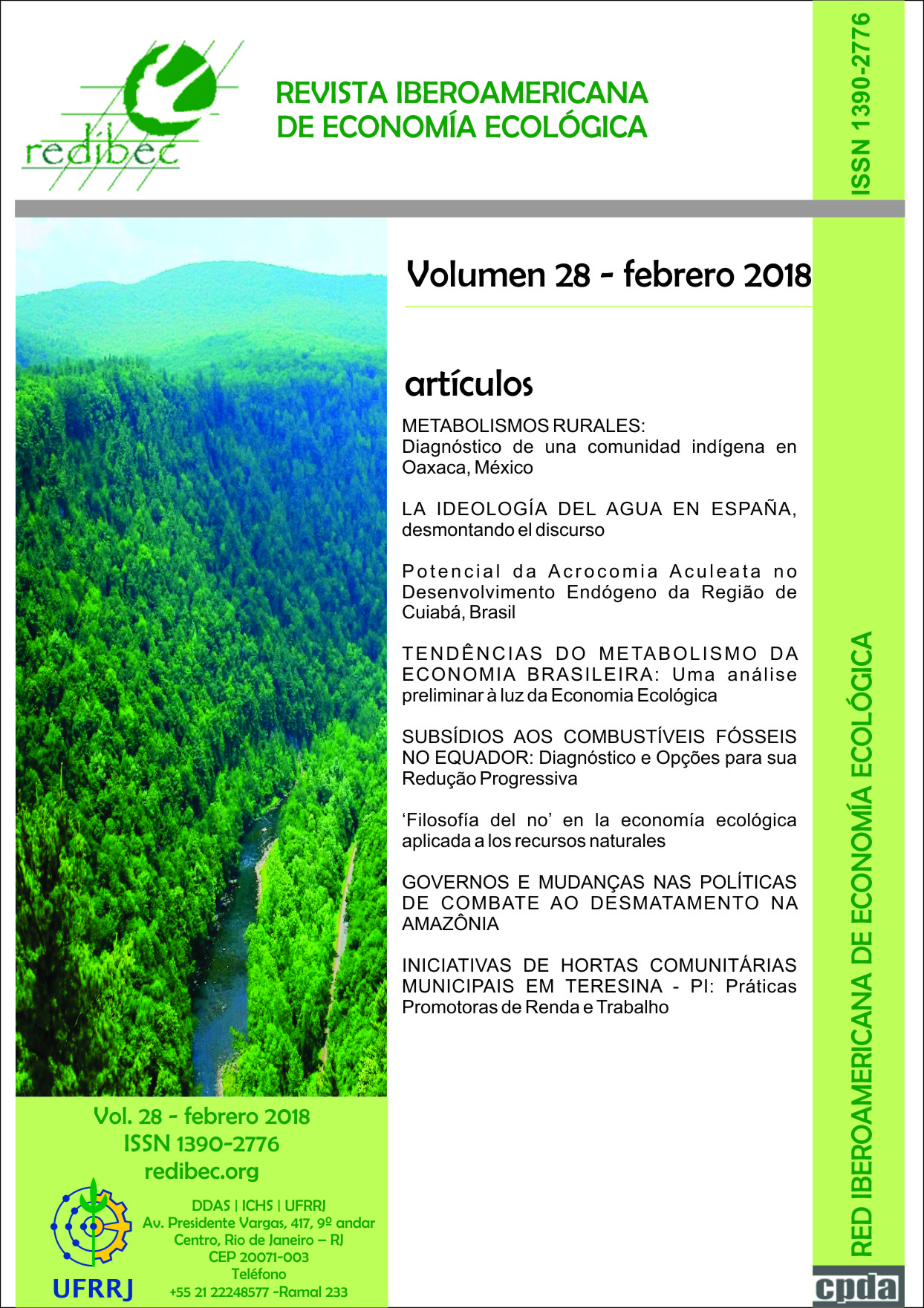 Capa da REVIBEC Volume 28
