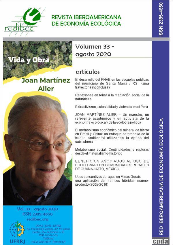 Visualizar 2020: REVISTA IBEROAMERICANA DE ECONOMIA ECOLÓGICA, Volume 33, Número 1