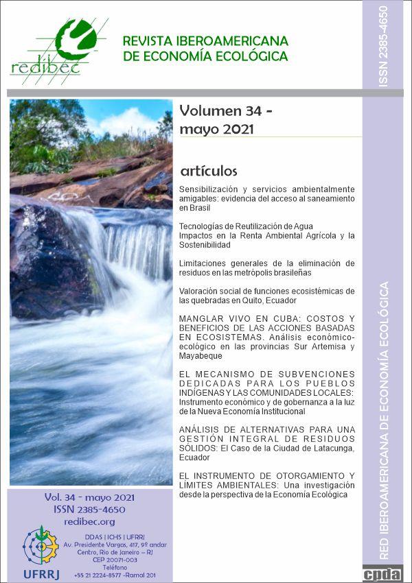 Visualizar v. 34 n. 1 (2021): REVISTA IBEROAMERICANA DE ECONOMIA ECOLÓGICA (maio 2021)